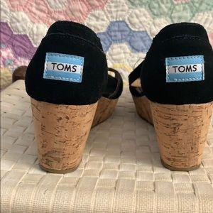 Black TOM peep toe sandel